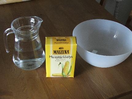 Vettä ja Maizenaa